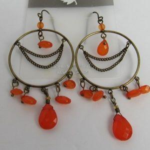 Jewelry - NWT Orange/Gold Dreamcatcher Earrings